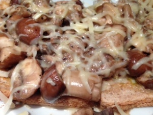 cheesy mushrooms
